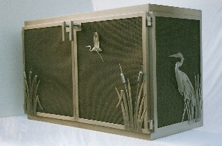 Heron Fire Screen